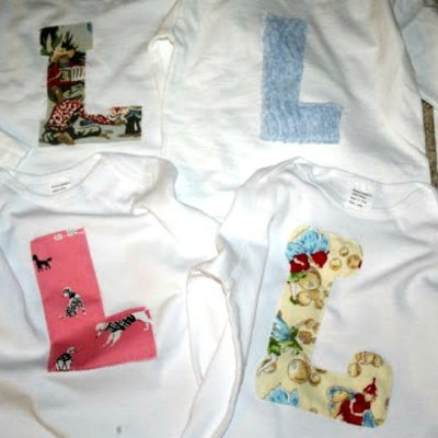 Simple Monogrammed Shirts Made Without a Cutting Machine