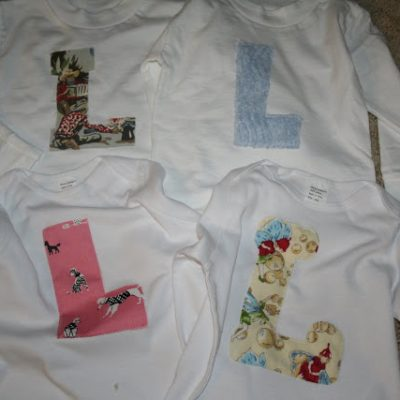 Monogrammed Shirts {from Fabric Scraps}