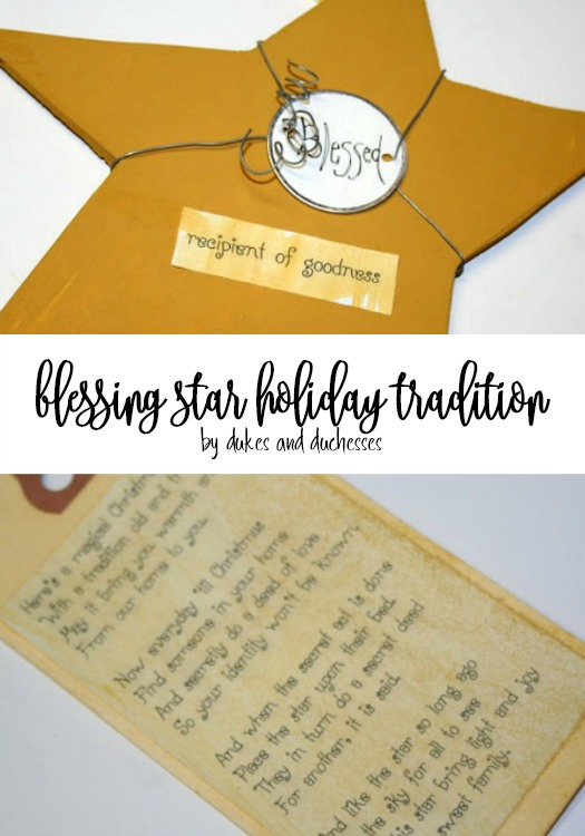 blessing star holiday tradition