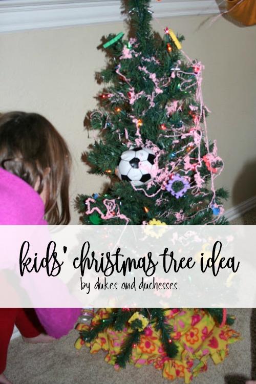 kids christmas tree idea