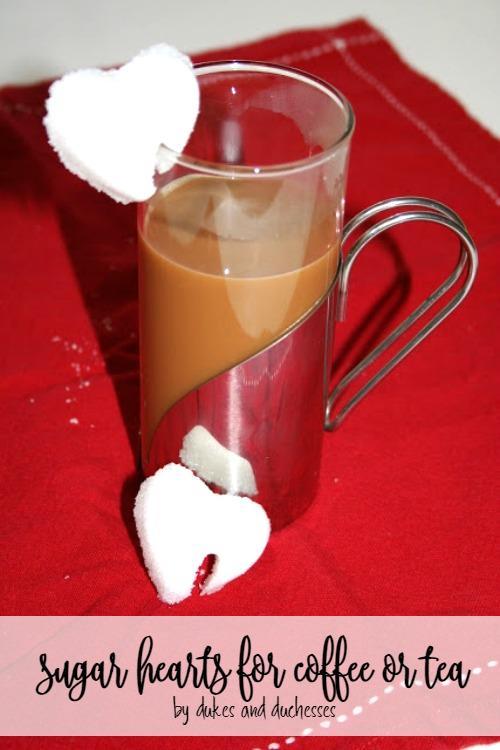 sugar hearts for coffee or tea