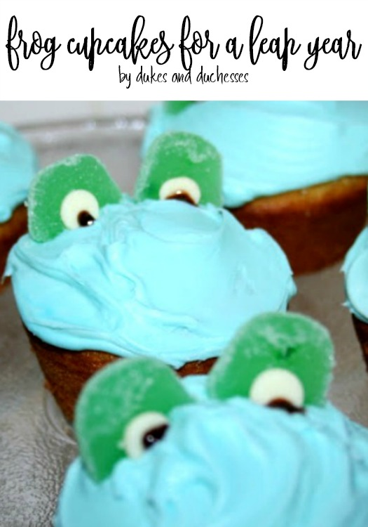 frog cupcakes for leap year