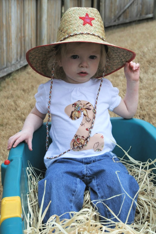 wagon hayrides at cowboy party