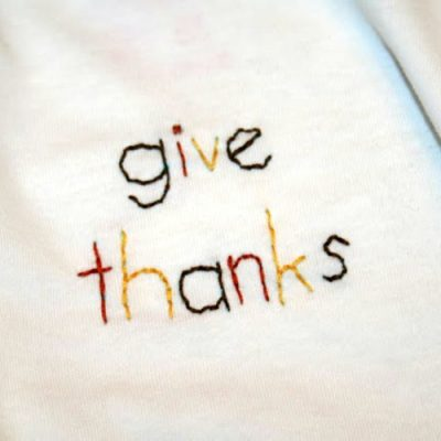 Hand Stitched Give Thanks Shirts for Thanksgiving