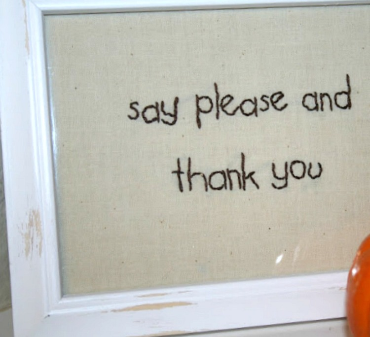 please and thank you table manners sign