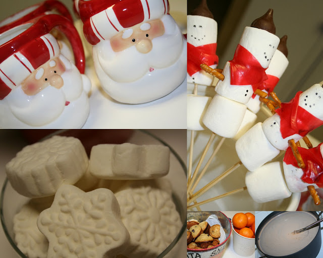 marshmallow snowman for a hot cocoa party