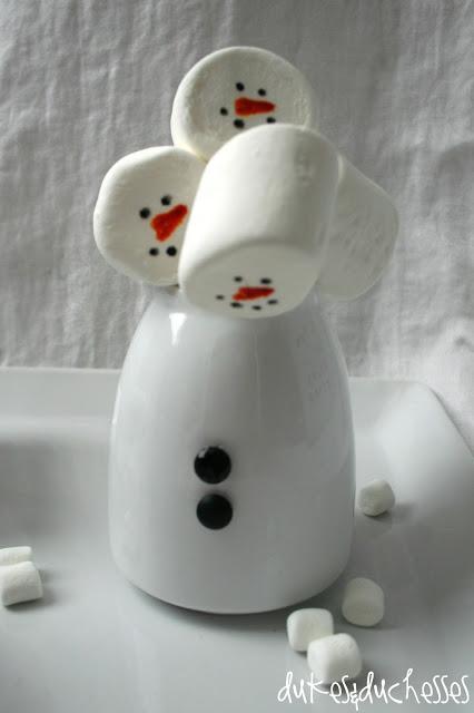 snowman cocoa bar