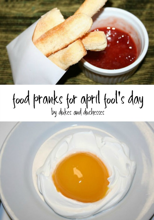food pranks for april fool's day