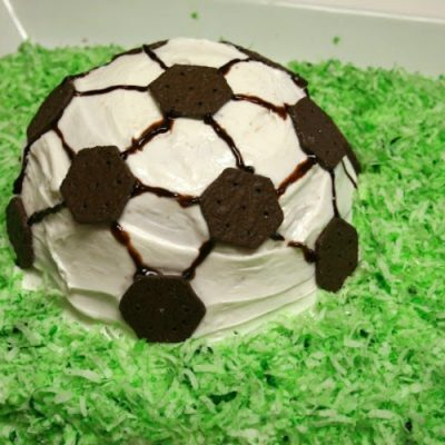 Easy Soccer Cake Idea