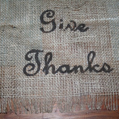 A Burlap Table Runner