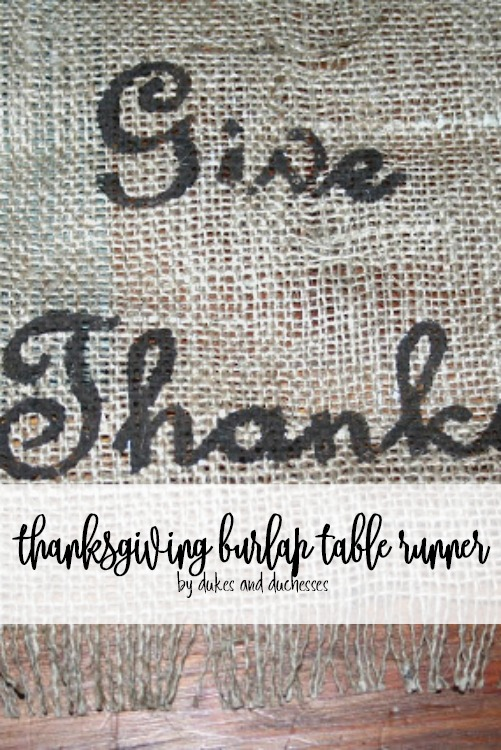thanksgiving burlap table runner