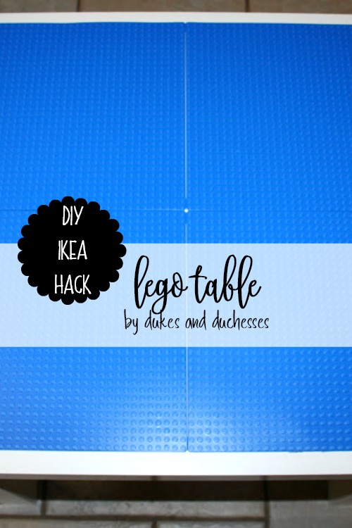 DIY IKEA hack lego table