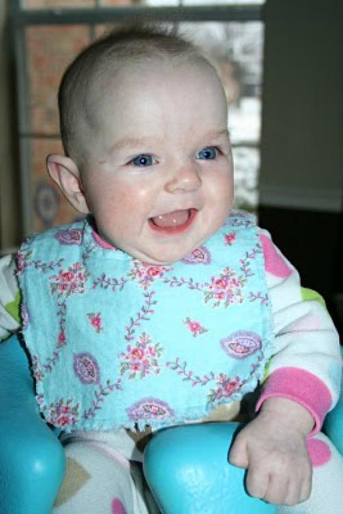 shaggy flannel baby bib