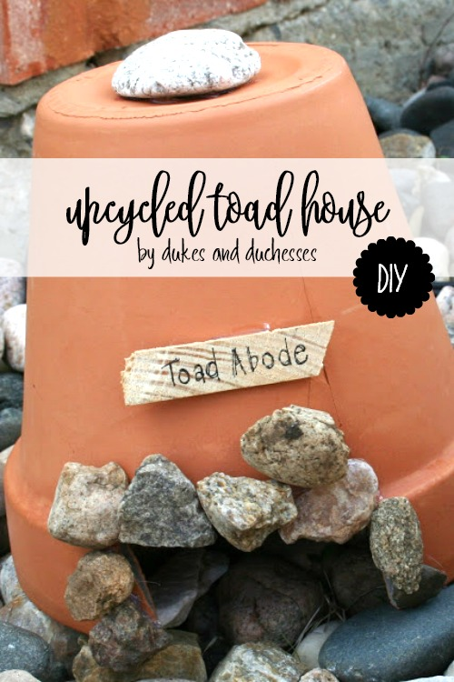 DIY upcycled toad house