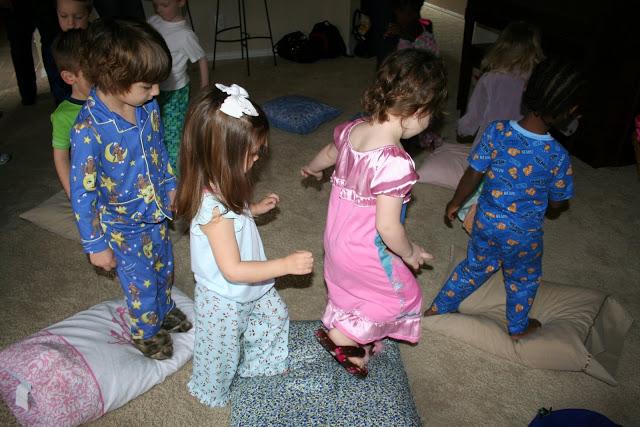 A pajama party