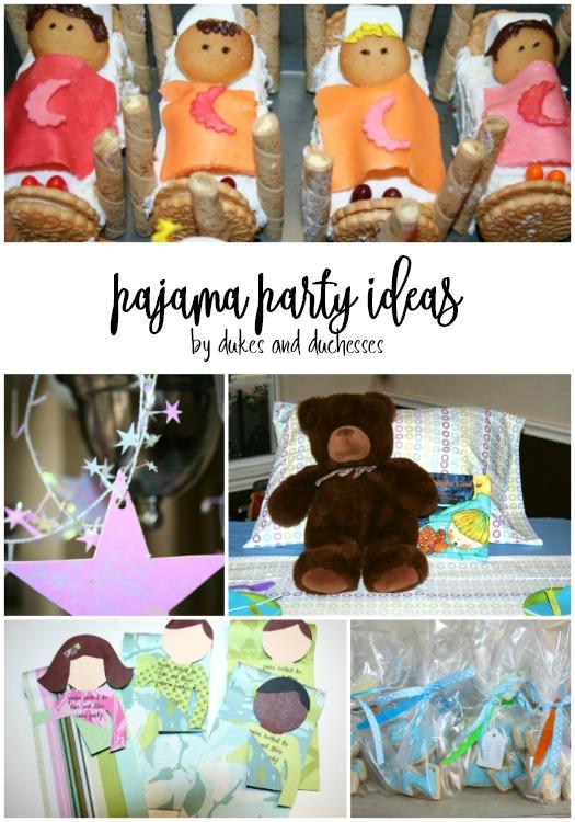 pajama party ideas