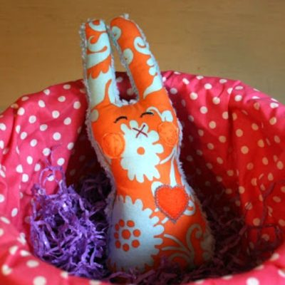 Fabric Bunny with a DIY Rattle
