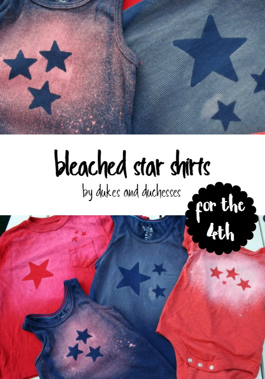 bleached star shirts for the 4th of July