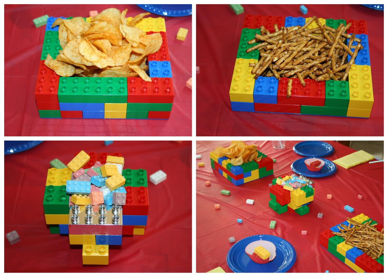 ... meal and they were topped with Lego chocolates made in my Lego mold