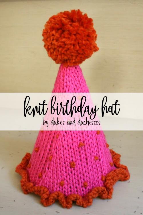 knit birthday hat