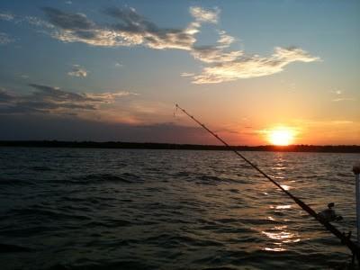 Fishing on Lake Lewisville