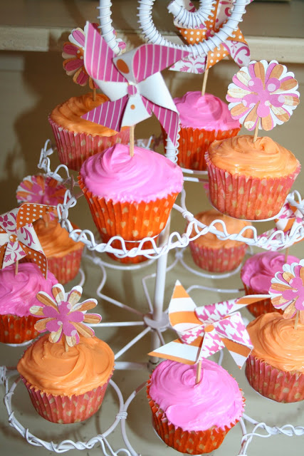 Posies and pinwheels Theme for Girls 1st Birthday Party Idea by Randi Dukes