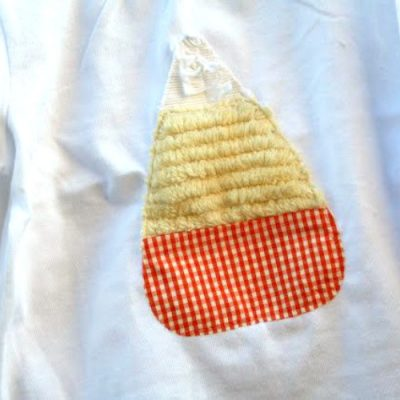 Textured Candy Corn Shirts for Girls