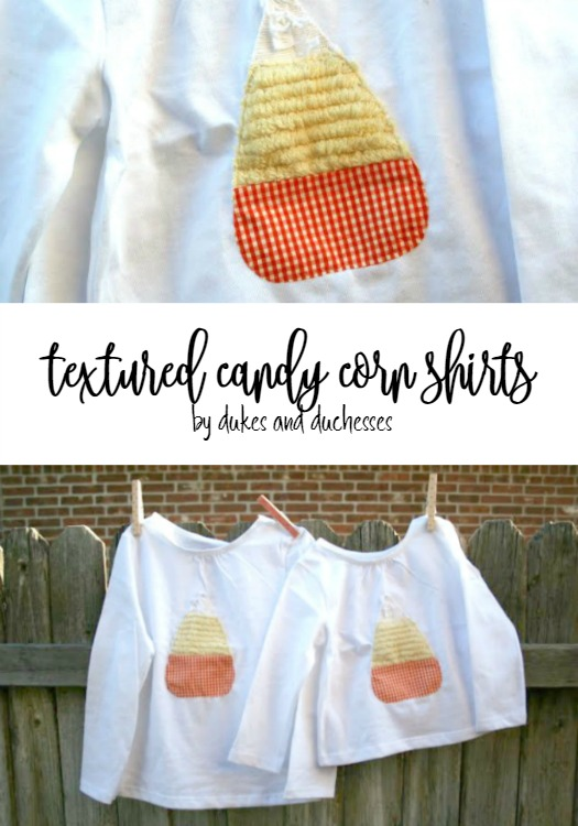textured candy corn shirts for halloween