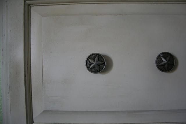 Repurposed cabinet door hooks