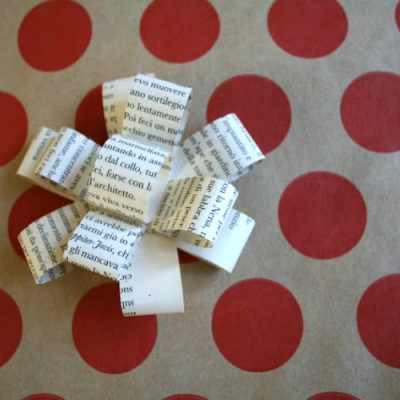 Book Page Paper Bows