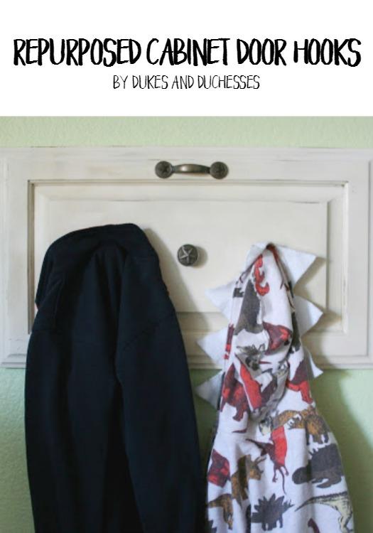 Repurposed Cabinet Door Hooks Dukes And Duchesses