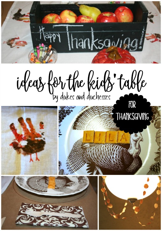 ideas for the kids table for thanksgiving