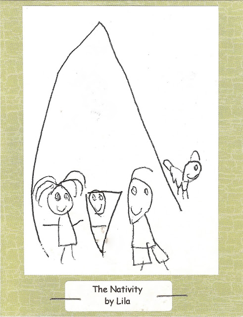 hand drawn nativity christmas card