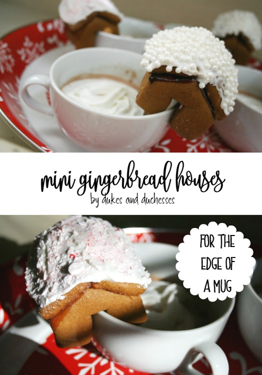 mini gingerbread houses for the edge of a mug
