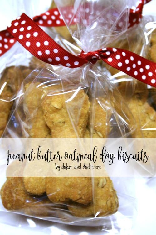 peanut butter oatmeal dog biscuits recipe