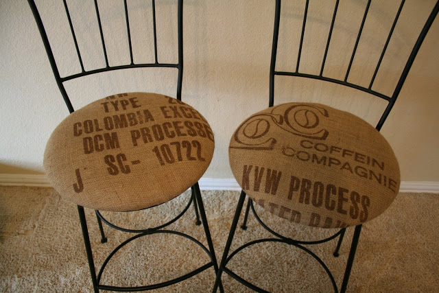 Coffee sack decor