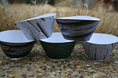 Faux Wood Cupcake Wrappers