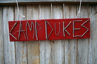 A Camp Sign for a Camp Party