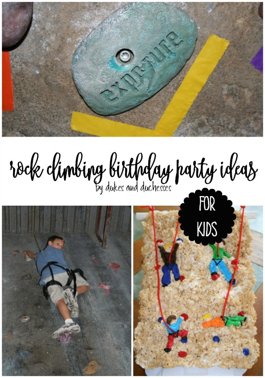 rock climbing birthday party ideas for kids
