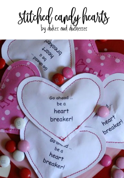 stitched candy heart valentines