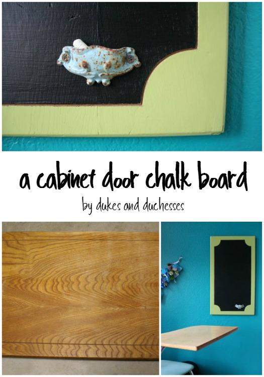 cabinet door chalk board