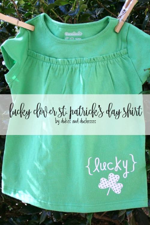 lucky clover st. patrick's day shirt