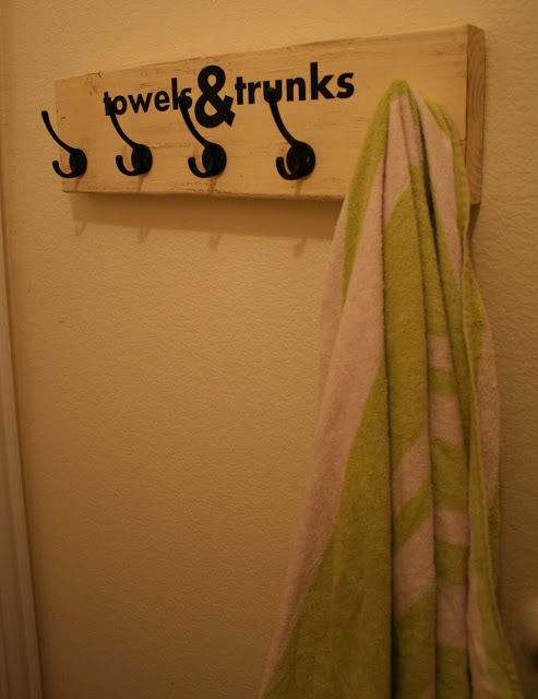For towels and trunks