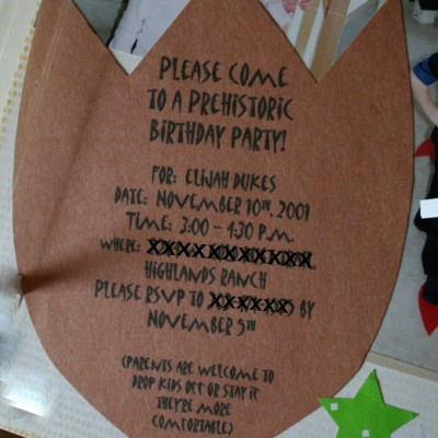 A Dinosaur Party {Old Style} :: Birthday Archives