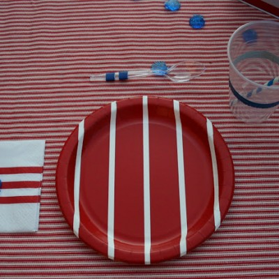A Striped Tablescape {with Duct Tape}
