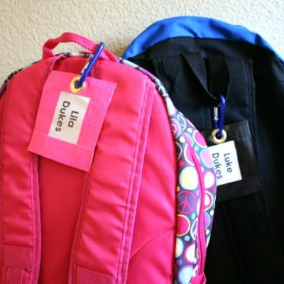 Duct Tape Backpack Tags