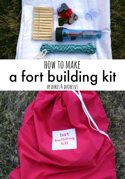 how to make a fort building kit