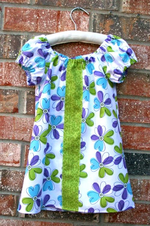 DIY floral dress pattern for little girl