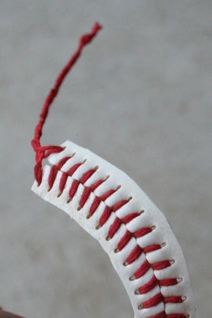 A baseball bracelet
