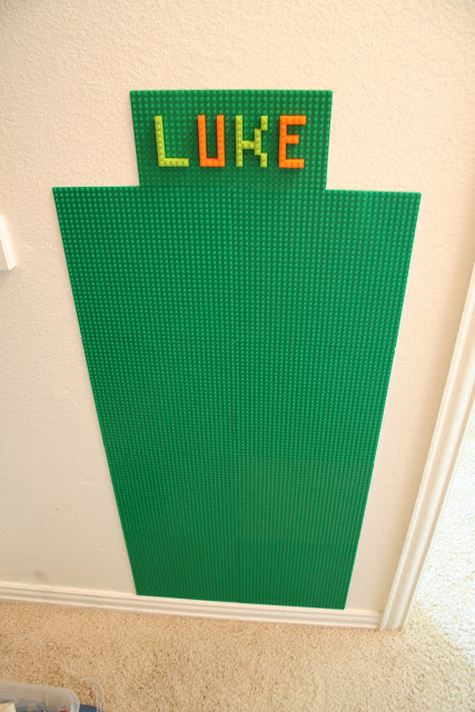 DIY lego wall with name
